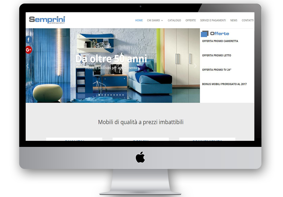 Creabit digital media agency for Semprini arredamenti